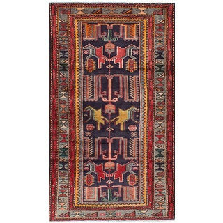 ecarpetgallery Hand-Knotted Zanjan Blue Wool Rug (3'4 x 6'5)