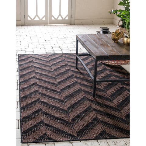 Unique Loom Outdoor Chevron Area Rug