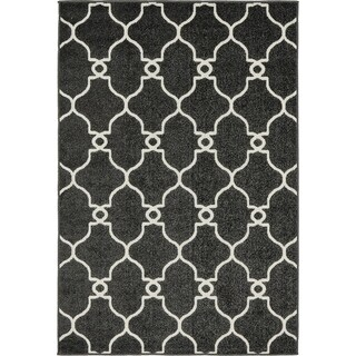 Unique Loom Columbus Indoor/Outdoor Area Rug (4 x 6 - Black)