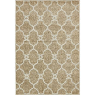 Unique Loom Columbus Indoor/Outdoor Area Rug (4 x 6 - Light Brown)