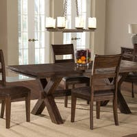 Shop Milano Rustic Knotty Shaped Edge Ladder Back Dining