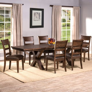 Hillsdale Furniture Park Avenue Walnut Wood 7-piece Dining Set