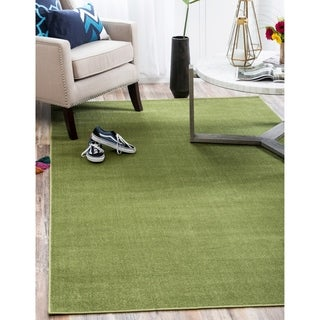 Tribeca Solid Green Area Rug (6' x 9')