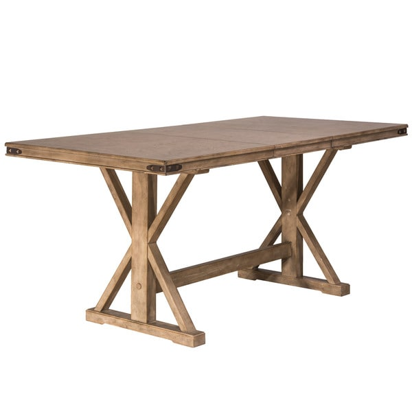 Hillsdale Furniture Leclair Vintage Grey Wood Counter Height Dining Table