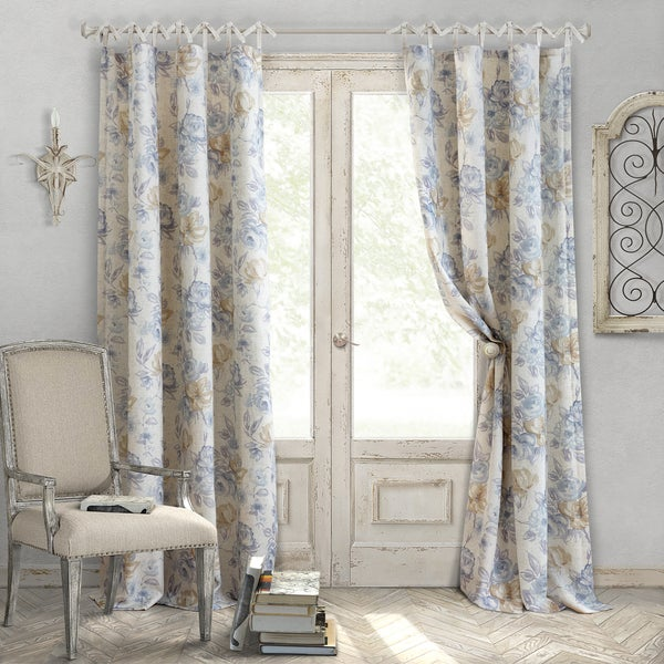 Elrene Annalise Tie Top Curtain Panel Free Shipping On Orders Over $45 Overstock.com 22670721