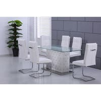 Best Master Furniture 'Ericka' Glass Rectangular Dining Table