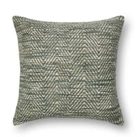Woven Multi Green/ Plum Chevron Throw Pillow or Pillow Cover 22 x 22