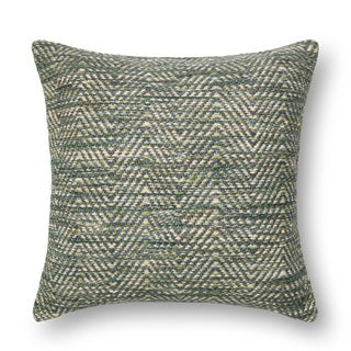 Woven Multi Green/ Plum Chevron Throw Pillow or Pillow Cover 22 x 22 (3 options available)