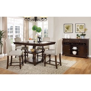 Best Master Furniture D1181 Counter Height Table - Walnut