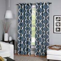 Elrene Luna Grommet Top Faux Linen Curtain Panel