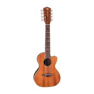 Luna Guitars UKEHTT8 High Tide 8-String Tenor Ukulele, Rosewood Fingerboard w/ Preamp & Gig Bag - Satin Mahogany