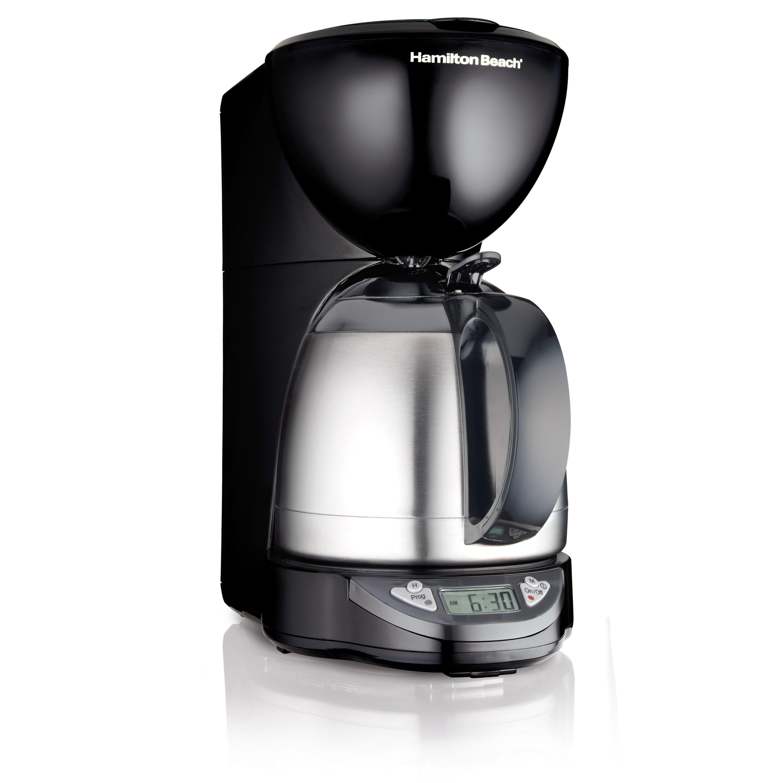 Hamilton Beach Programmable Thermal Coffee Maker Brown