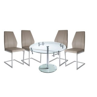 Cafe Glass and Metal Dining Set