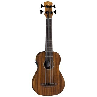 Luna Guitars Baritone Bass Ukulele, Koa Top w/ Preamp - Satin Natural