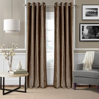 Elrene Victoria Velvet Blackout Energy Efficient Grommet Top Curtain Panel