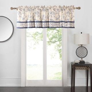 Saffi Blue Elephant Window Valance
