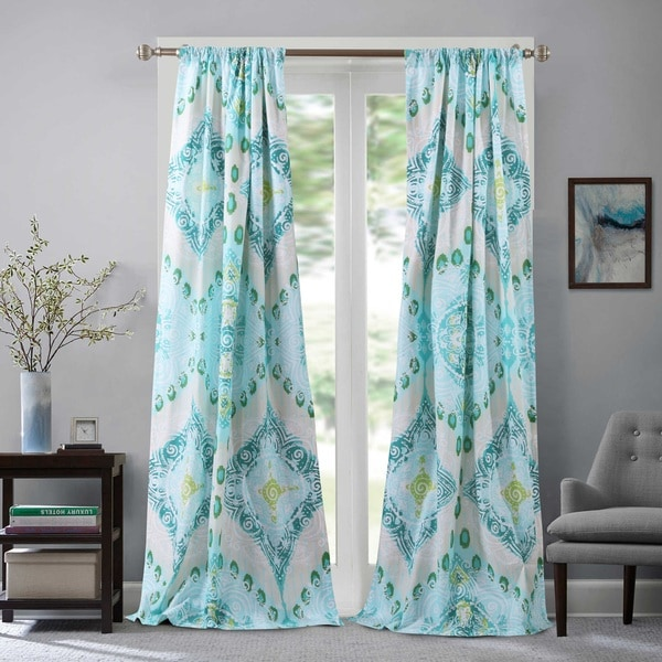 Shop Cascade 4 Piece Curtain Panel Pair Free Shipping On