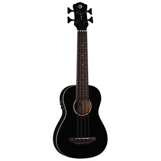 Luna Guitars Baritone Bass Ukulele, Spruce Top w/ Preamp - Classic Black
