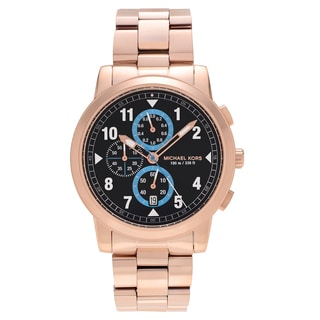 Michael Kors Men's MK8550 'Paxton' Rose Goldtone Stainless Steel Chronograph Link Bracelet Watch