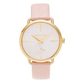 Michael Kors Women's MK2659 'Portia' Goldtone Stainless Steel Blush Leather Strap Watch