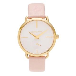 Michael Kors Women's MK2659 'Portia' Goldtone Stainless Steel Blush Leather Strap Watch