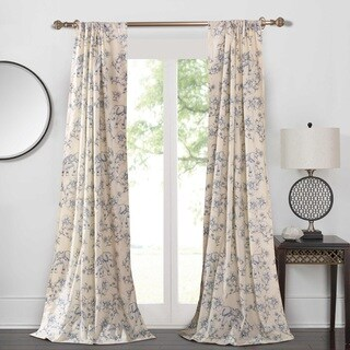 Saffi/Blue Elephant 4-Piece Curtain Panel Pair