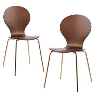 Versanora Contorno Blue/ Rose Gold Bentwood Chairs (Set of 2)