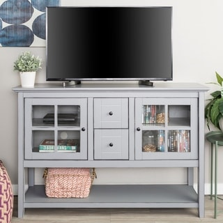 Modern 52-inch Wood Console Table Buffet TV Stand