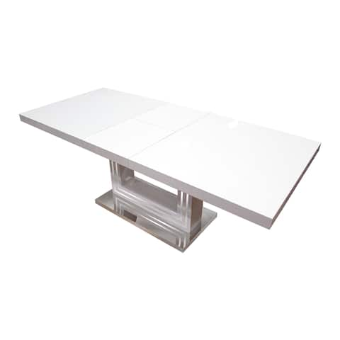 Best Master Furniture BA207 White Wood Dining Table