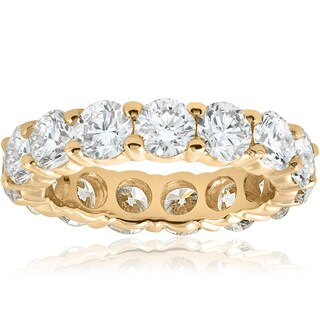 14k Yellow Gold 5 ct TDW Diamond Eternity Wedding Ring (I-J, I2)