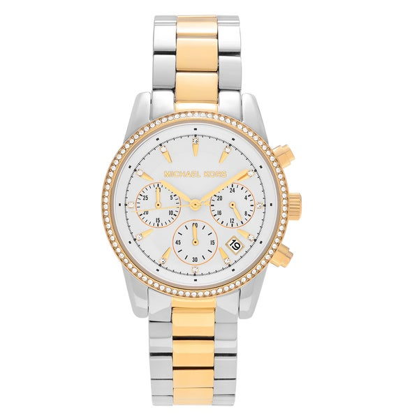 Shop Michael Kors Women S Mk6474 Ritz Two Tone Stainless