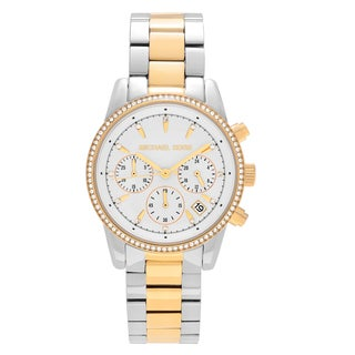Michael Kors Women's MK6474 'Ritz' Two Tone Stainless Steel Chronograph Dial Link Bracelet Watch