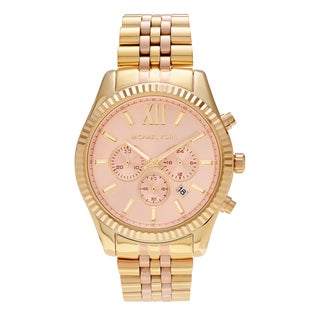 Michael Kors Women's MK6473 'Lexington' Two Tone Stainless Steel Chronograph Link Bracelet Watch
