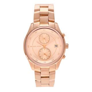 Michael Kors Women's MK6465 'Briar' Rose Goldtone Stainless Steel Multifunction Link Bracelet Watch