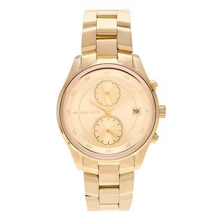 Michael Kors Women's MK6464 'Briar' Goldtone Stainless Steel Multifunction Link Bracelet Watch