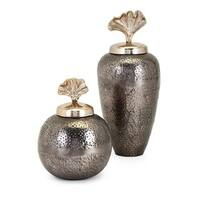 Trisha Yearwood Luxe Vase with Ginkgo Lid