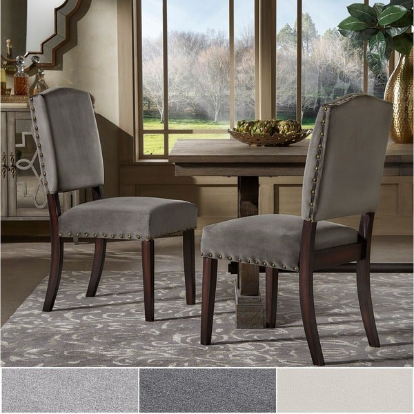 Delightful Benchwright II Velvet Nailhead Dining Chairs (Set Of 2) By INSPIRE Q Bold Good Looking