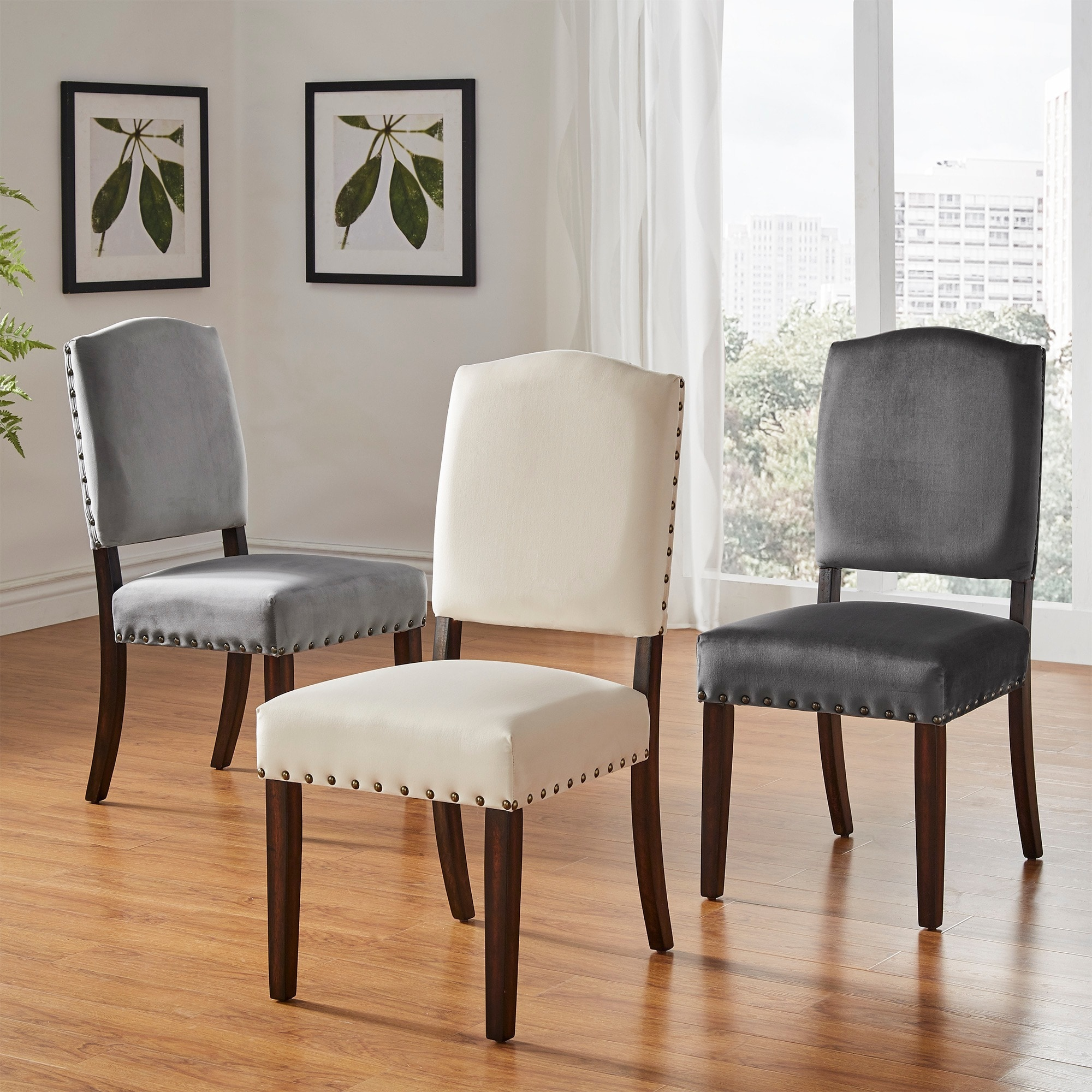Marvelous Benchwright Ii Velvet Nailhead Dining Chairs Set Of 2 By Inspire Q Bold Gmtry Best Dining Table And Chair Ideas Images Gmtryco