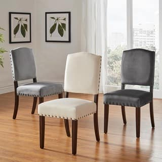 Benchwright II Velvet Nailhead Dining Chairs Set Of 2 By INSPIRE Q Bold