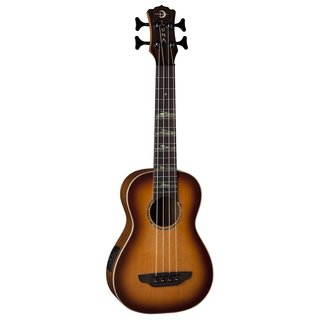 Luna Guitars High Tide Acoustic-Electric Bass Ukulele, Spruce Top - Sunburst
