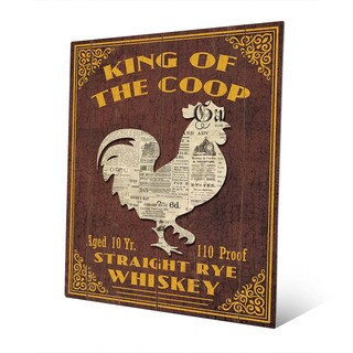 King Of The Coop Vintage Sign Wall Art on Metal