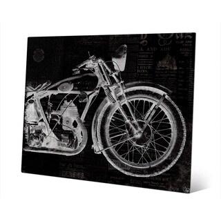 Vintage Motorcycle -Black Wall Art Print on Metal