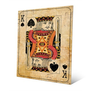 Vintage King Playing Card Wall Art Print on Metal