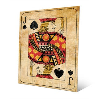 Vintage Jack Playing Card Wall Art Print on Metal