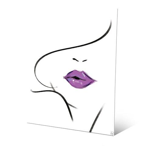 Mauve Lipstick Wall Art Print on Metal