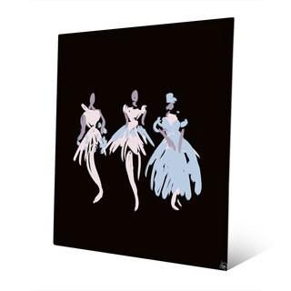 Ballerinas Blush Abstract Wall Art Print on Metal