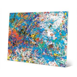 Mock Cerulean Abstract Wall Art Print on Metal