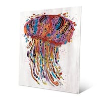 Colorful Wild Jellyfish Wall Art Print on Metal