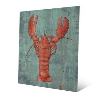 Lobster in Red Wall Art Print on Metal