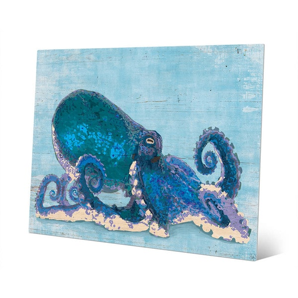 Dat Cool Blue Octopus Wall Art Print On Metal